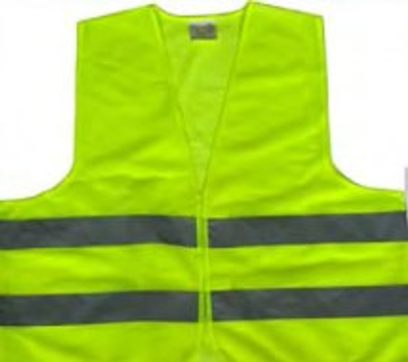 005 Z Safety Vest with Zip, 120 GSM