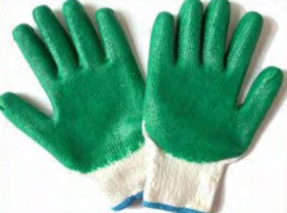 YarkGreen Coated Latex Cotton Gloves