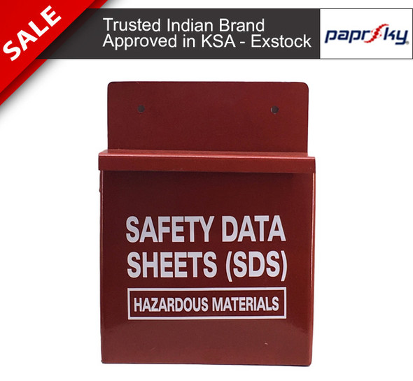 Safety Data Sheets SDS Metal Box (Hazardous Materials) محطات قفل السلامة وصناديق