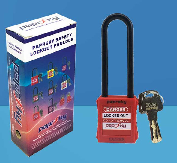 Dielectric Padlock Red LOTO locks PS-LOTO-PPNR-76 قفل السلامة