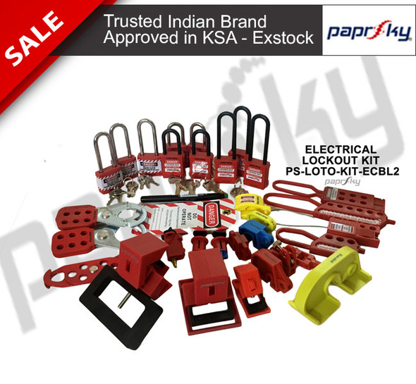 Electrical Circuit Breaker Lockout Kit - PS-LOTO-KIT-ECBL2 مجموعات علامة قفل السلامة