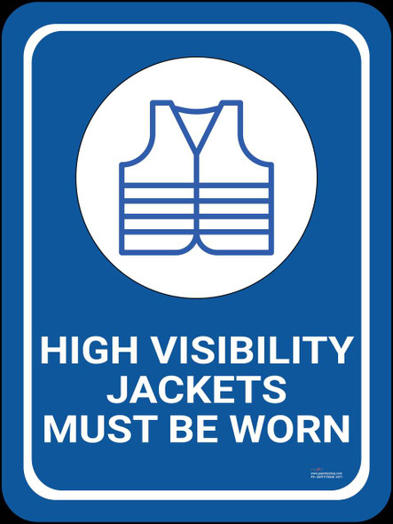Safety sign - High visibility jacket must be worn