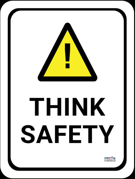 Safety sign - Think safety