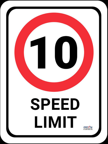Safety sign - Speed limit