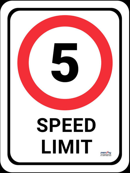 Safety sign - Speed limit 2
