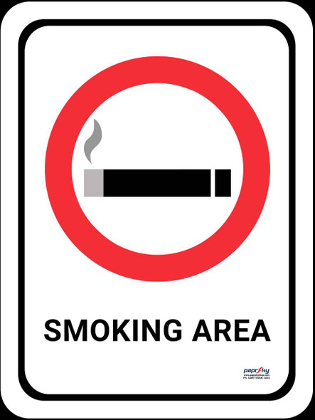 Safety sign - Smoking area
