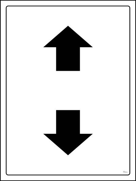 Safety sign -Up And Down With Empty space
