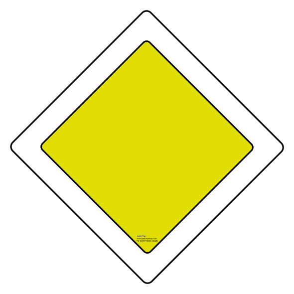 Safety sign - right of way