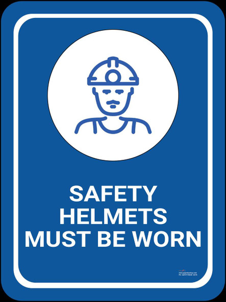Safety sign -Safety helmet must be worn