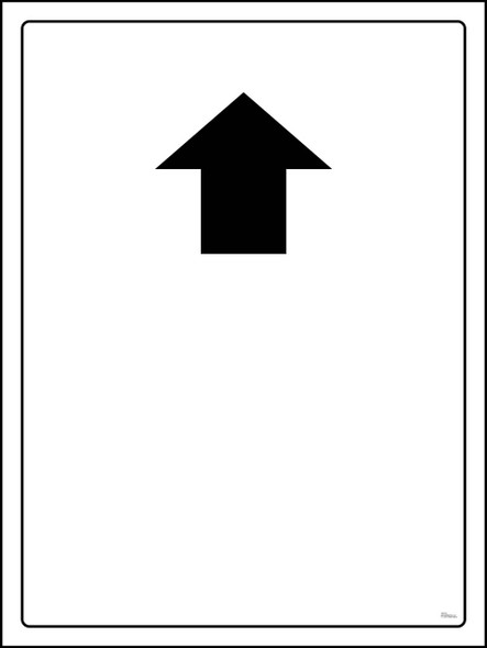 Safety sign -Up With Empty space