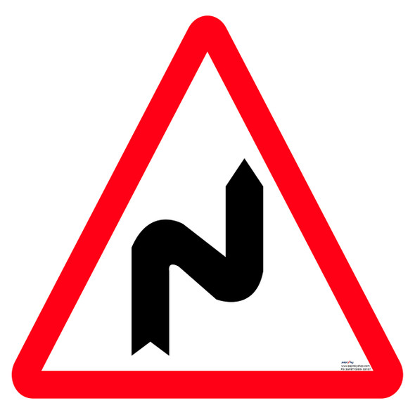 Safety Sign - Right series of bend