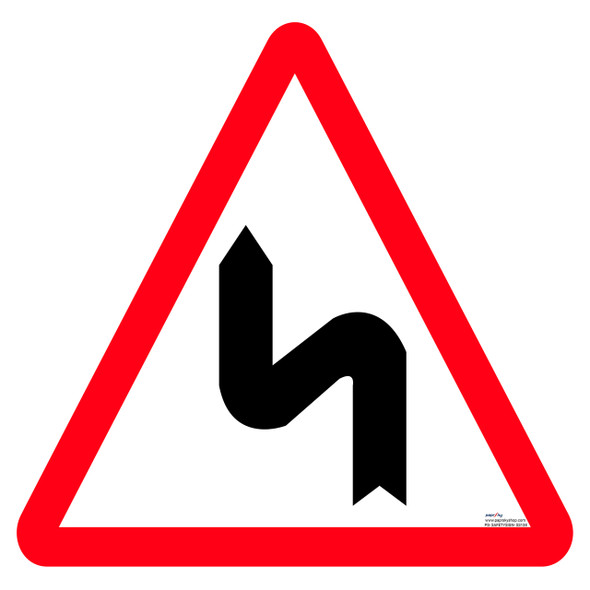 Safety Sign - Left series of bend