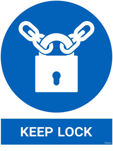 Safety sign - Keep lock