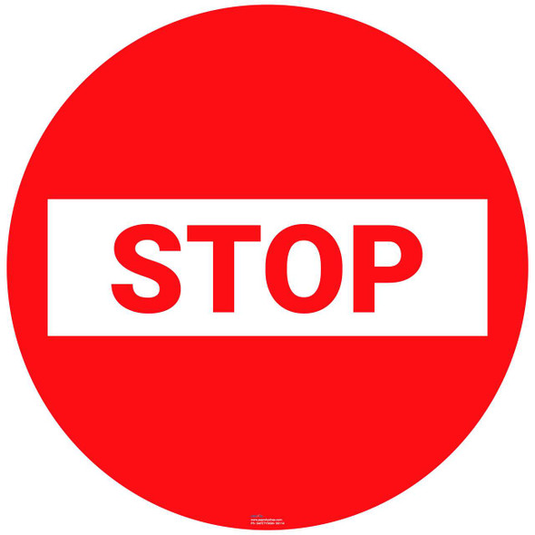 Safety sign - Stop