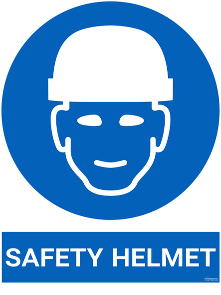 Safety sign - safety helmet