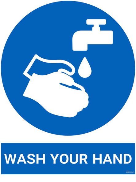 Safety sign - Wash your hand