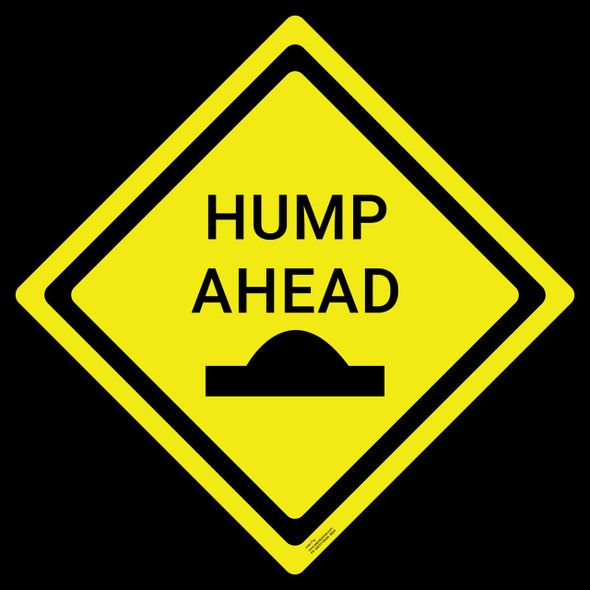 Safety sign - Hump Ahead