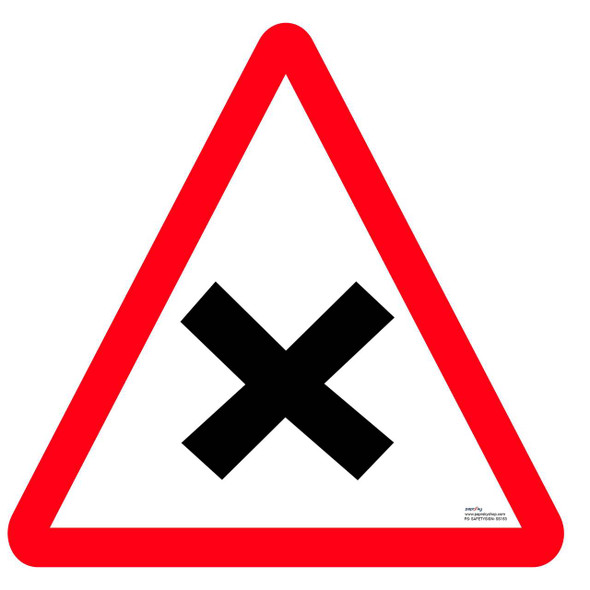 Safety sign - Cross road
