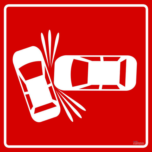 Safety sign - High accident zone