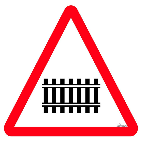 Safety sign - Guarded RLY. Crossing