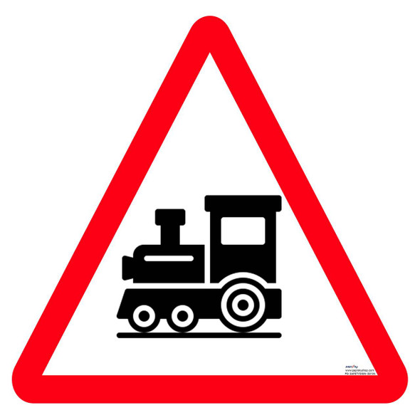 Safety sign - Unguarded RLY. Crossing