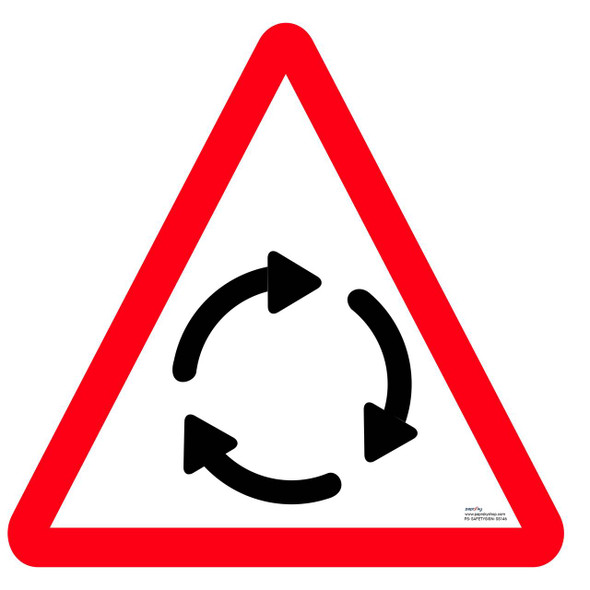 Safety sign - Traffic circle ahead