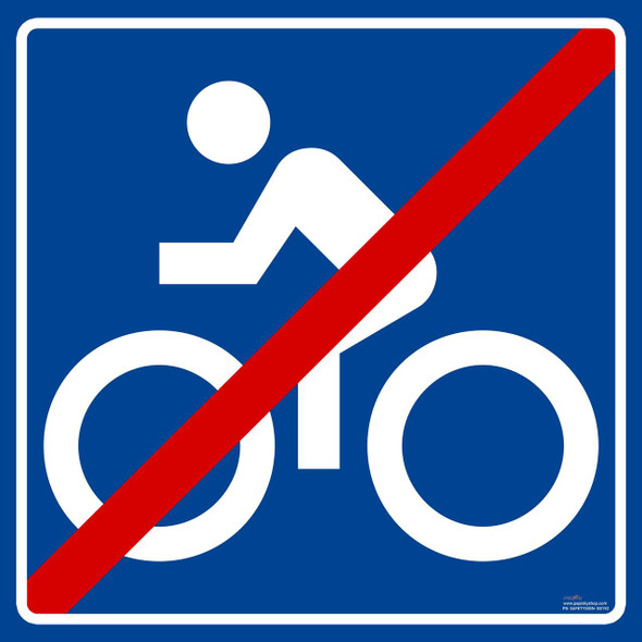 Safety sign - segregated cycle facilities
