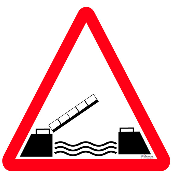 Safety sign - Opening or swing bridge ahead