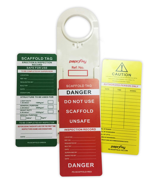 Lockout Tags PS-SCAFFOLD-TAG Pack of 4