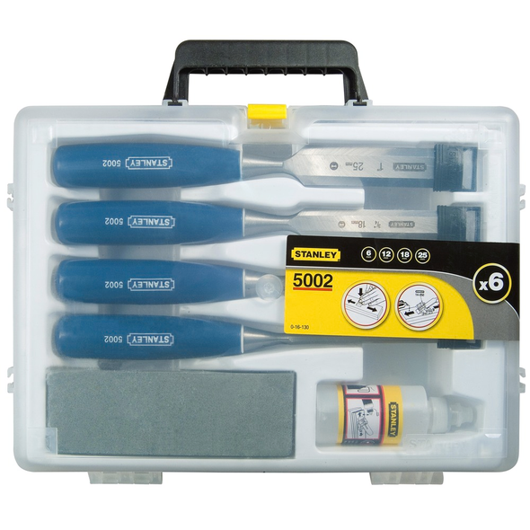 5002 CHISEL SET 6 12 18 25 OIL AND STONE