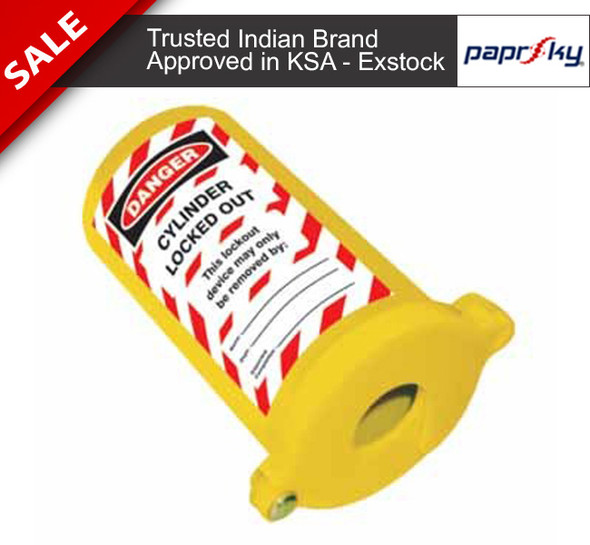 Cylinder Lockout (Yellow Lid)| PS-LOTO-CLY