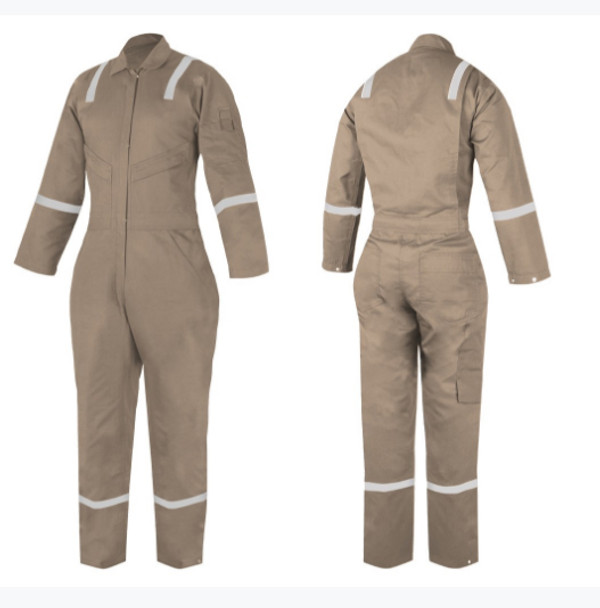 Fire Retardant COVERALL - ZK-XL9200 - WOMEN Khaki