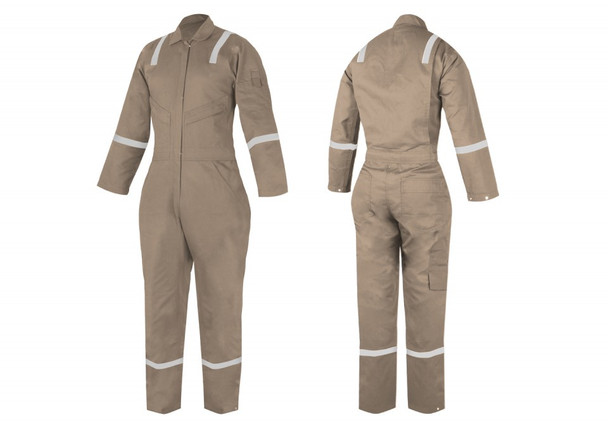 Fire Retardant COVERALL - F240AS-88/12 - WOMEN  Khaki