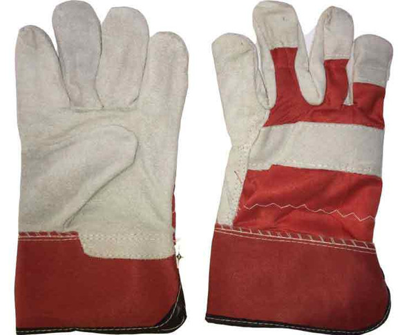 Red Satin Double Palm Working Glove Heavy Duty 11""