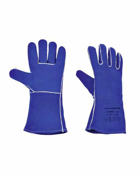 Honeywell Welder Blue HR Leather welding Gloves