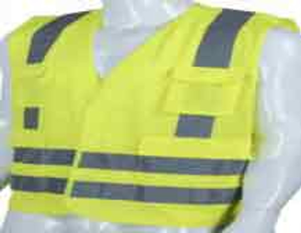 KU 4 Safety Vest, 120GSM with 4 Pockets and Zip