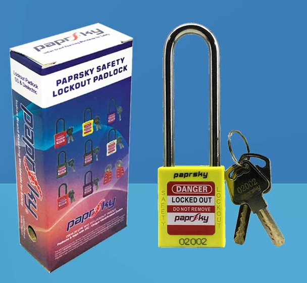 Lockout Padlock Yellow LOTO locks PS-LOTO-PPR-76 قفل السلامة