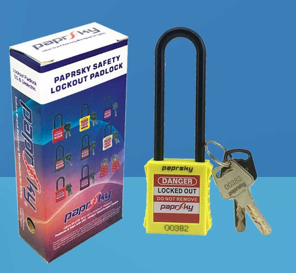 Dielectric Padlock Yellow LOTO locks PS-LOTO-PPNR-76 قفل السلامة