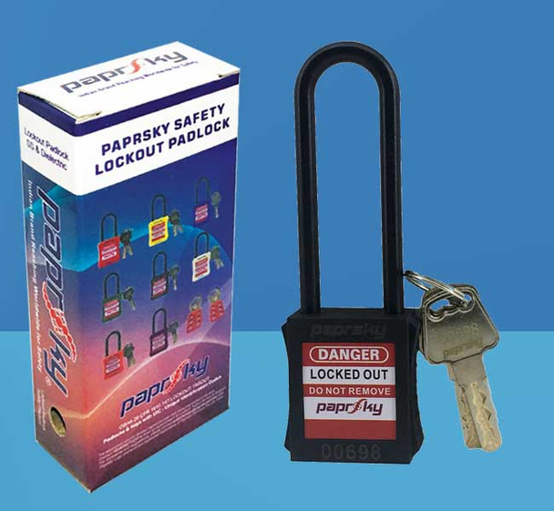Dielectric Padlock Black LOTO locks PS-LOTO-PPNR-76 قفل السلامة