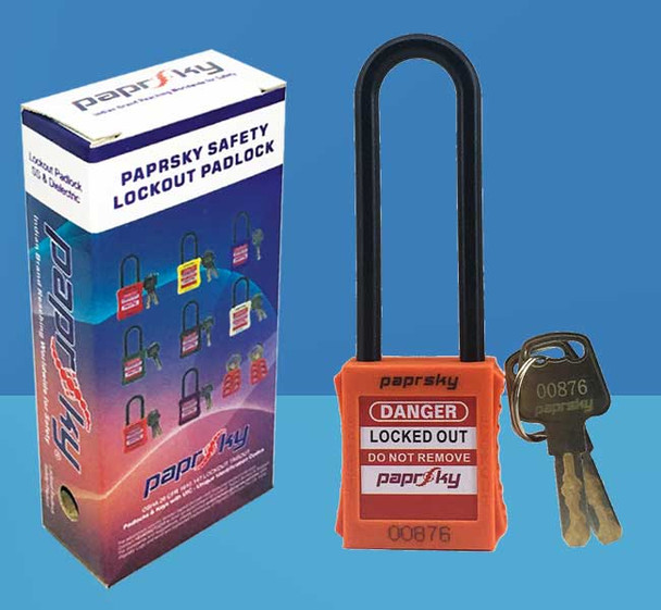 Dielectric Padlock Orange LOTO locks PS-LOTO-PPNR-76 قفل السلامة