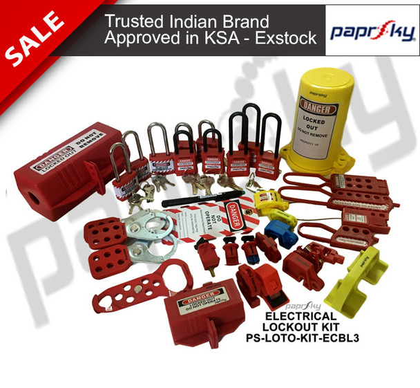 Electrical Plug & Circuit Breaker Lockout Kit  PS-LOTO-KIT-ECBL3 مجموعات علامة قفل السلامة