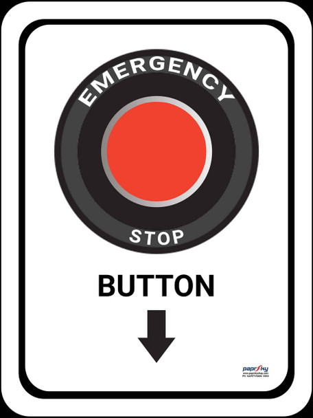 Safety sign -  Emergency stop button