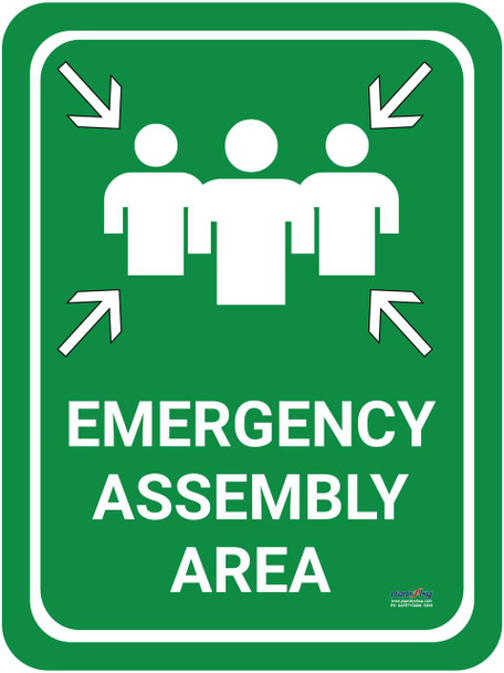Safety sign -  Emergency Assembly Area