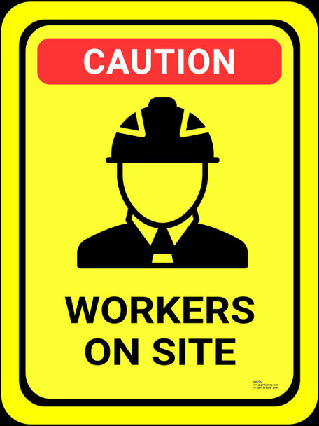 Safety sign - Workers on site