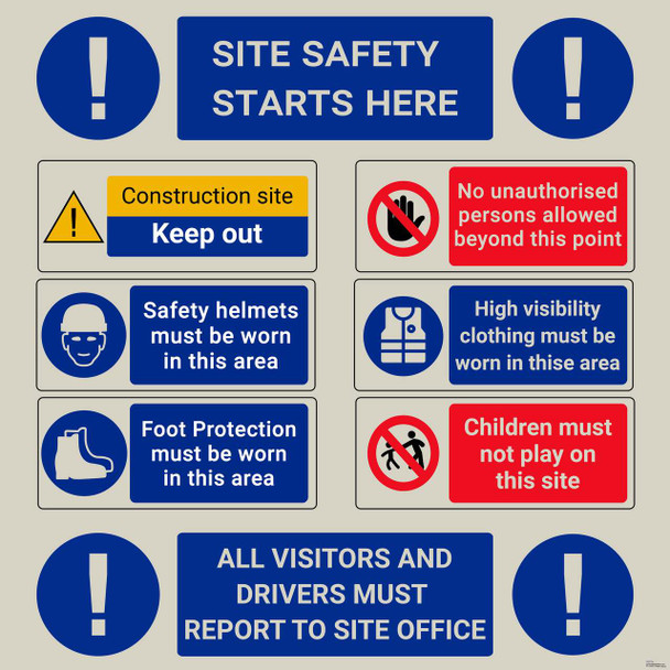Safety sign - site safety starts here