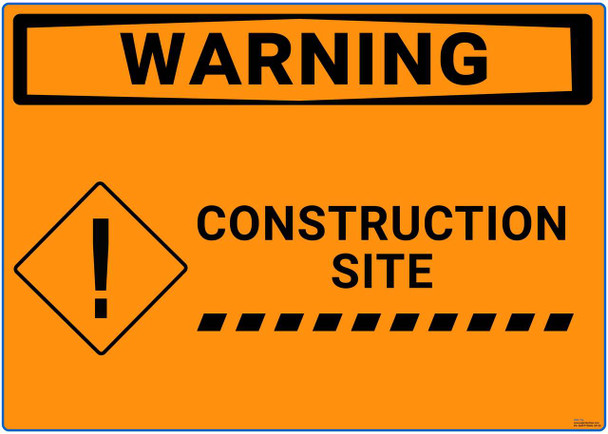 Safety sign -  Warning - Construction site