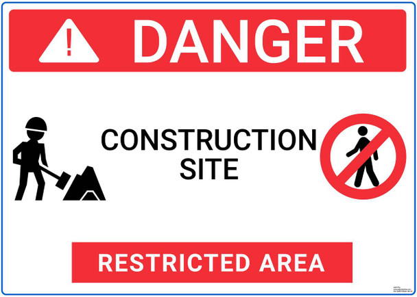Safety sign -  Danger - Construction Site restricted area