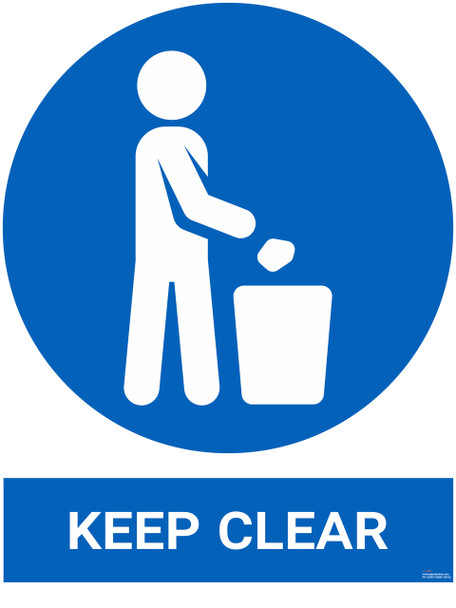 Safety sign - Keep Clear
