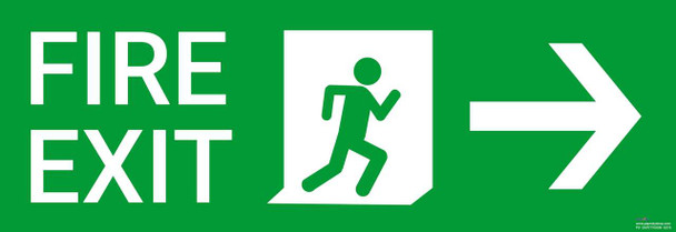 Safety sign - Fire Exit right