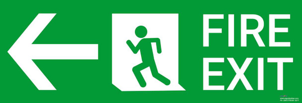 Safety sign - Fire Exit left